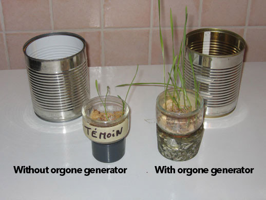 Visible effects of orgone generators